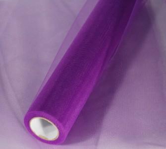 Tüll in violett 35 cm x 20 m Tüllstoff