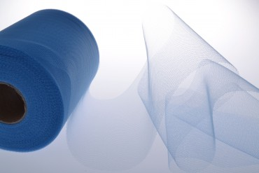 Tüll in türkis 12,5 cm x 100 m Tüllstoff - Maxi Rolle Dekostoff