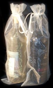 10 Flaschenbeutel 38 x 16 cm silber