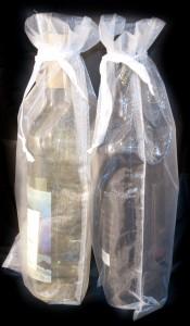 10 Flaschenbeutel 38 x 16 cm weiß