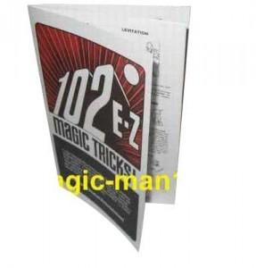 102 Zaubertrick-Beschreibungen - einmalige Zaubertricks