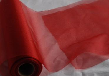 Organza dunkelrot 35 cm x 20 m - Tischläufer Deko