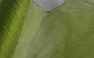 Organza 35 cm x 20 m grün gekettelt