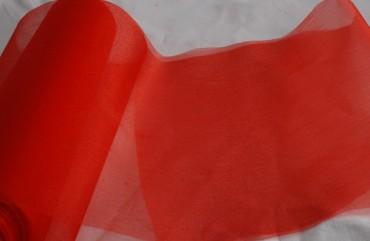Organza rot 35 cm x 20 m Tischkäufer Dekoration Feier