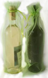 10 Flaschenbeutel 38 x 16 cm Smaragd grün