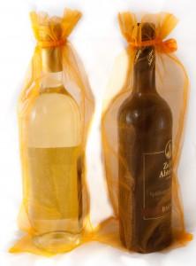 10 Flaschenbeutel 38 x 16 cm orange