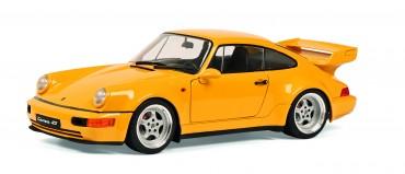 Porsche 911 3.8 RS BJ 1990 gelb 1:18 Solido Modellauto Metall - Sammlerstück