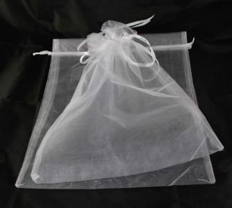10 x Organzabeutel 40 x 30 cm weiß Organzasäckchen Traubenschutz