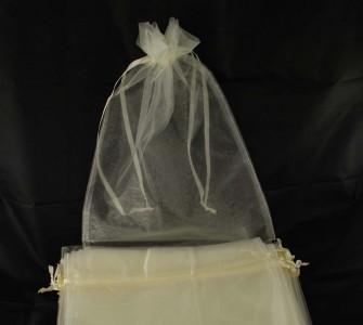 10 x Organzabeutel 40 x 30 cm champagner weiß Organzasäckchen Traubenschutz
