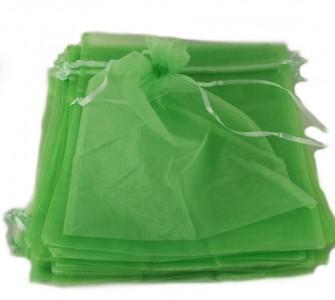 10 x Organzabeutel 40 x 30 cm mint-grün Organzasäckchen Traubenschutz