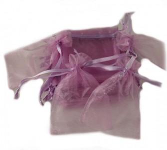 50 Organzabeutel 15 x 10 cm violett
