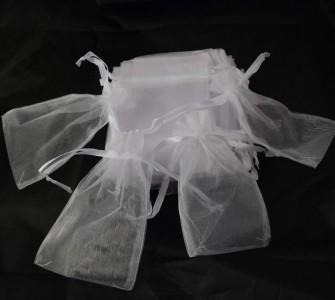 50 Organzabeutel 15 x 10 cm in weiß