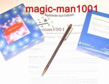 Kugelschreiber durch Geldschein