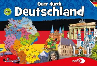 Quer durch Deutschland - Gesellschaftsspiel 2-6 Personen ab 6 Jahren