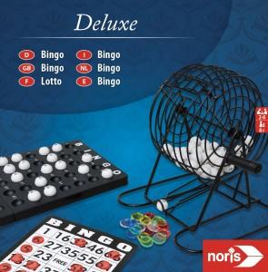 Noris Deluxe Bingo - Gesellschaftsspiel,  Bingospiel, deutsch, 2-6 Spieler