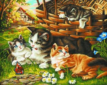 Malen nach Zahlen -Katzenfamilie- Schipper - Meisterklasse Premium