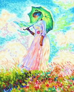 Malen nach Zahlen - Frau mit Sonnenschirm - Meisterklasse Premium Schipper