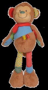 Nicotoy Long Legs patchwork - Affe - Plüsch Affe kuschelweich