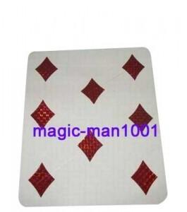von 1 bis 8 Karo Karte - Jumbo-Karten-Trick