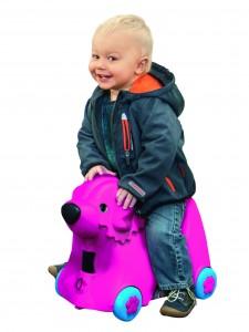 Big Bobby Trolley Pink - Kinderkoffer und Spielzeug in einem - Kinder Koffer