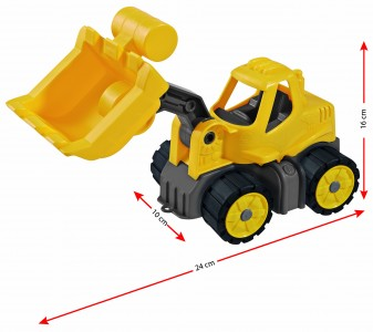 BIG Power-Worker Mini Radlader- Bagger Spielzeug outdoor Sandkasten Strand