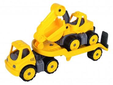 BIG Power-Worker Mini Transporter mit Bagger - Sandkasten Strand