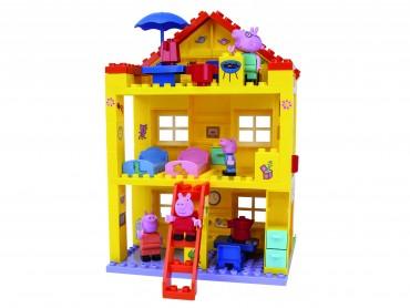 PlayBIG Bloxx Peppa House - Peppa Wutz Peppas Haus Puppenhaus mit Spielfiguren