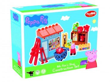 PlayBIG Bloxx Peppa Pig Mr Fox Shop 29 Teile - 1,5 - 5 Jahren - Peppa Spielfigur