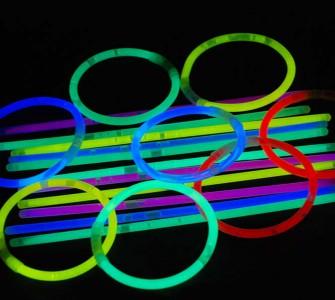 Knicklichter 5 * 200 mm 100 Stück gemischt - Armreifen mit 5 Kreisverbinder