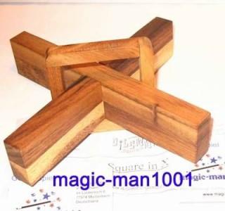Geduldspiel aus Holz: Magisches Kreuz