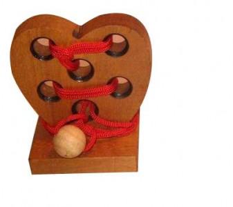 Apfel-Puzzle - Holzgeduldspiel