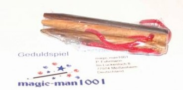 Drei verzwickte Bleistifte - Bleistift anzaubern an Knopfloch