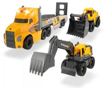 Dickie Toys Mack/Volvo Heavy Loader Truck - LKW mit Bagger und Radlager