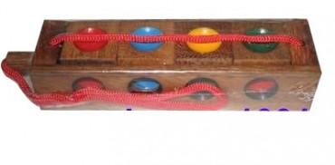Ampel Spiel - Verückte Vier - Holzgeduldspiel