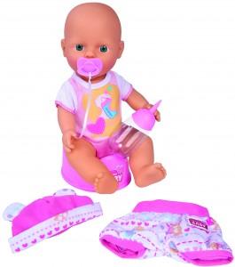 Simba New Born Baby Baby Puppe - Junge Babypuppe mit Trink- und Nässfunktion