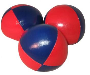 Jonglierball 6,3 cm, glatt - blau-rot Granulat Jonglierbälle