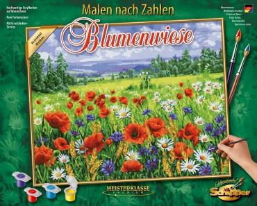 Malen nach Zahlen - Blumenwiese - Schipper Meisterklasse 40 x 50 cm