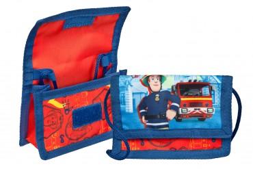Fireman Sam Geldbörse - Brustbeutel - mit Klettverschluss, Kordelband