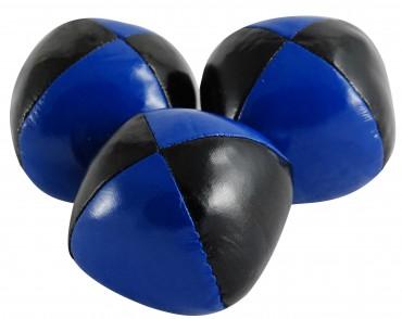 Jonglierball 6,3 cm, Bean Bag- schwarz - blau