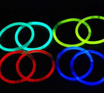 100 Knicklichter, 5 * 200 mm Einzelfarben Knicklichter Armbänder Knicklicht