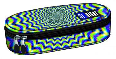Schlampermäppchen grün blau gelb Etui Federmäppchen Schule St.Right Hypnose