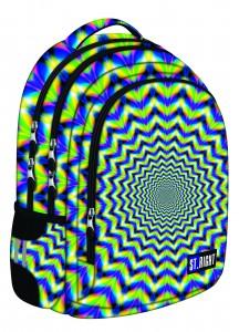 Schulrucksack Rucksack für Schule Oberstufe 25 l Hypnose  St.Right grün blau