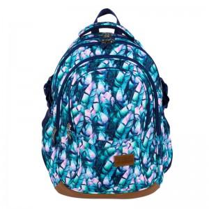 Schulrucksack Rucksack für Schule 23 l 3D Jungen Herren 4 Fächer blaue Blätter