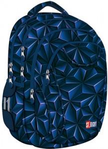 Schulrucksack Rucksack für Schule Oberstufe  24 l 3D Jungen Herren 4 Fächer blau