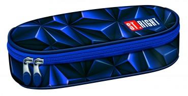 Schlampermäppchen blau 3D  Etui Federmäppchen Schule St.Right