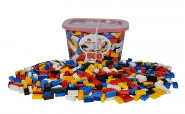 Blox Container 500 Stück 8er Steine - 5 Farben - Steckbausteine