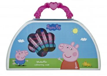 Peppa Pig- Peppa Wutz - Malkoffer - 51 tlg. -Malset mit Koffer - Stifte,