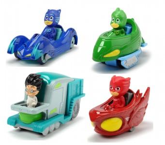 Dickie PJ Masks Spielfigur mit Auto Catboy Gekko Eulette Romeo Fahrzeug
