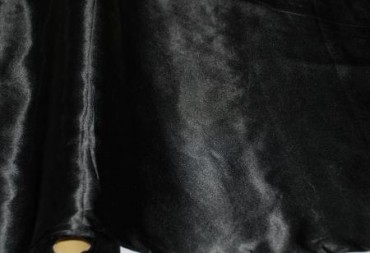 Satin Stoff 140 cm x 10 m schwarz
