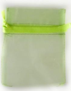 50 Organzabeutel 15 x 10 cm in Smaragd grün